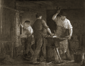 The Blacksmith in Hornbæk (1875)