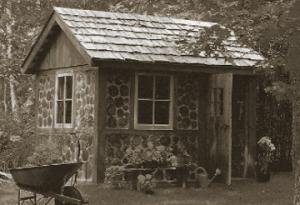 "An ""Irish Shed"" - Timber frame with 'cordwood masonry' walls"